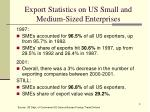 export statistics on us small and medium sized enterprises