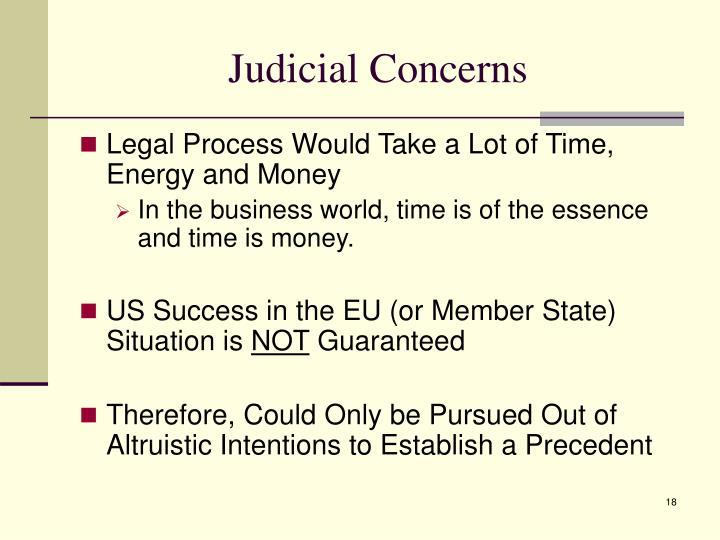 Judicial Concerns