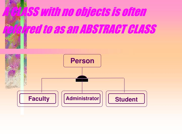A CLASS with no objects is often