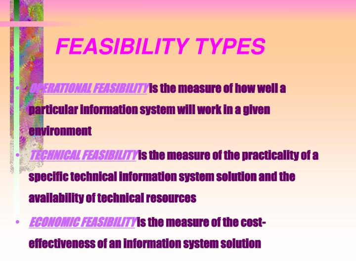 FEASIBILITY TYPES