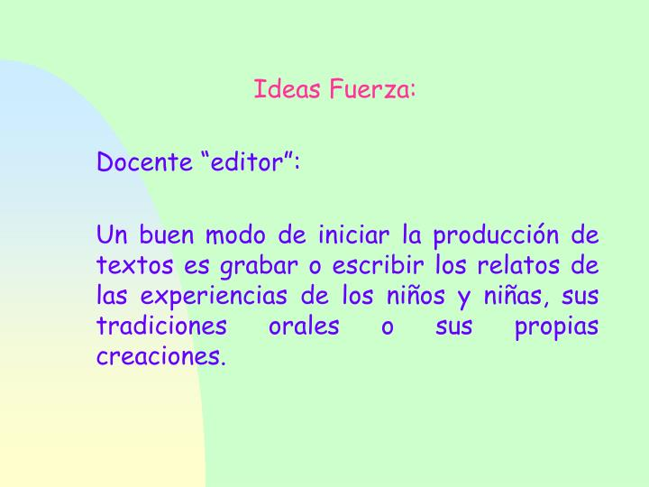 Ideas Fuerza:
