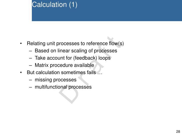 Calculation (1)