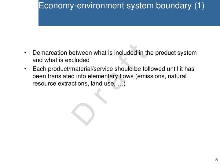 Economy-environment system boundary (1)