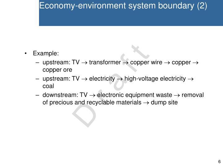 Economy-environment system boundary (2)