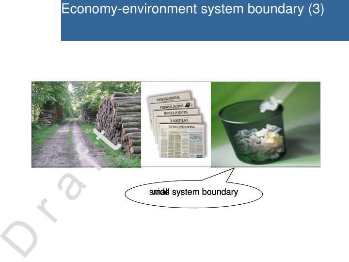 Economy-environment system boundary (3)