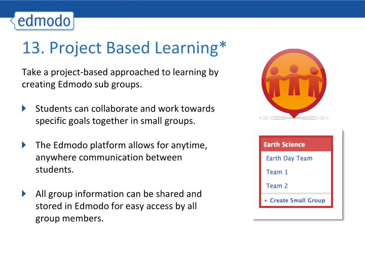 13. Project Based Learning*