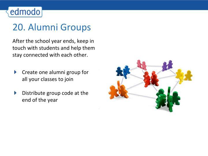20. Alumni Groups