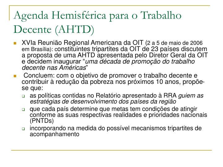 Agenda Hemisférica para o Trabalho Decente (AHTD)