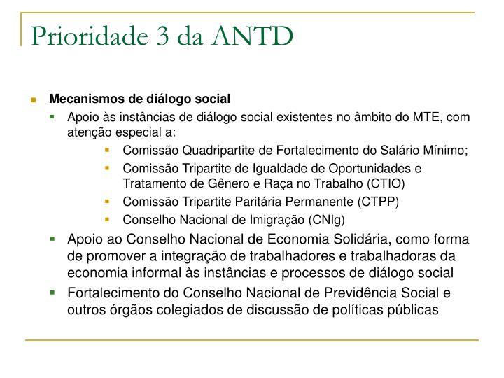 Prioridade 3 da ANTD