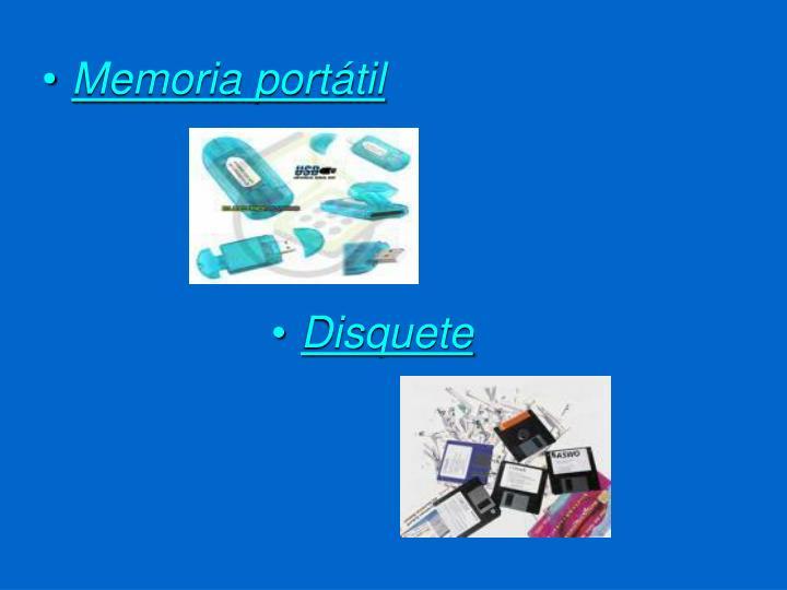 Memoria portátil
