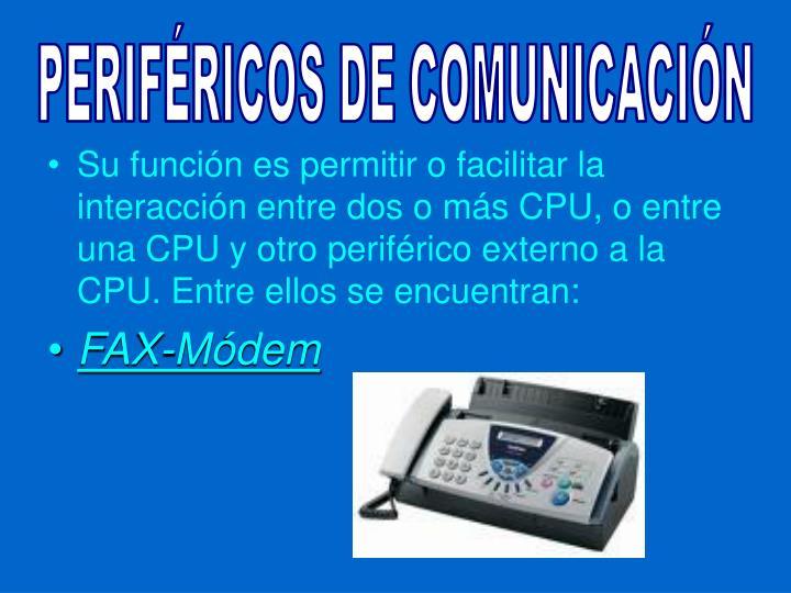 PERIFÉRICOS DE COMUNICACIÓN