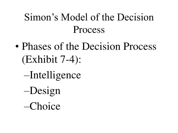 Simon's Model of the Decision Process