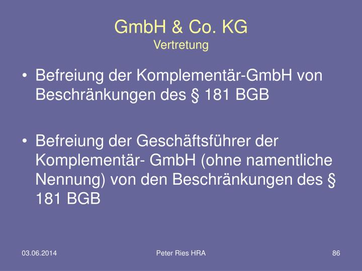 GmbH & Co. KG