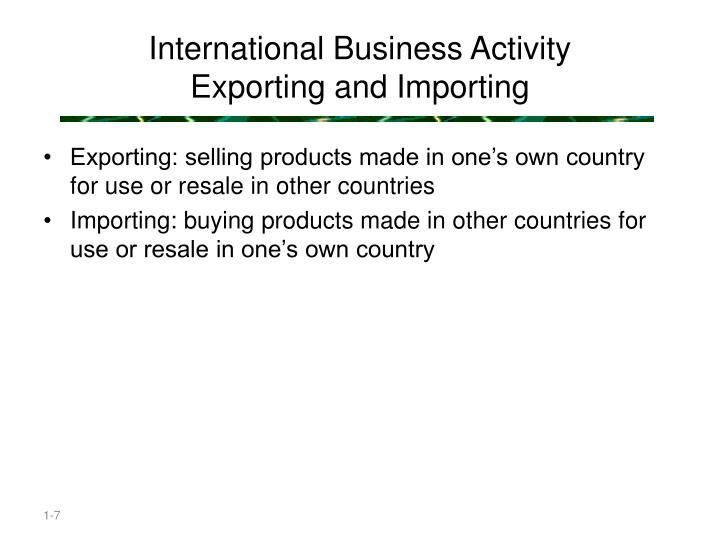 International Business Activity