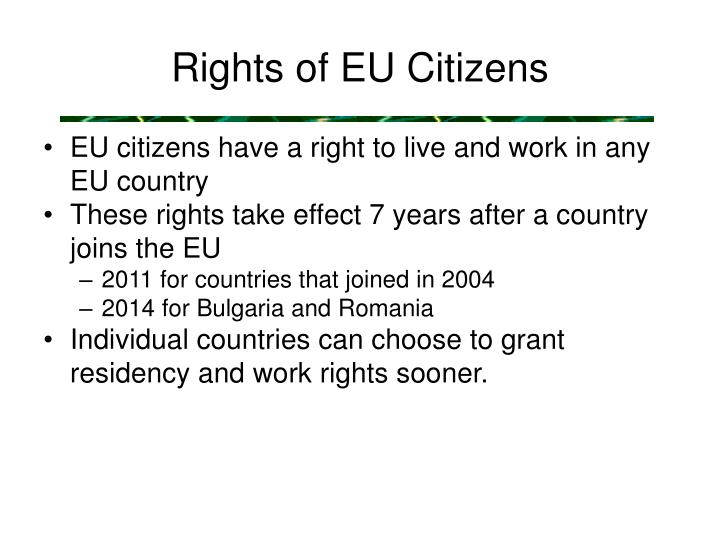 Rights of EU Citizens