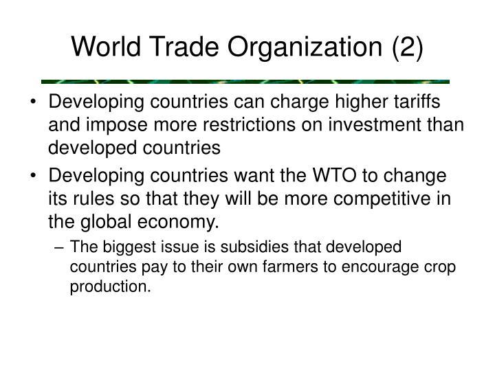 World Trade Organization (2)