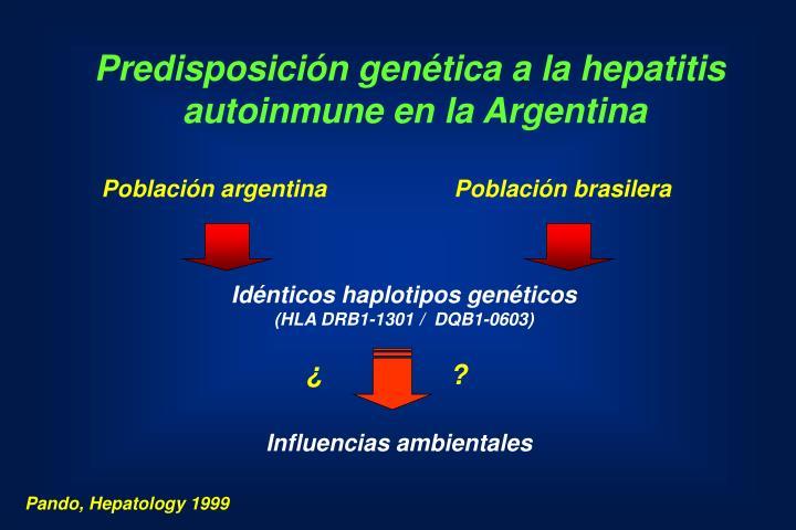 Predisposición genética a la hepatitis
