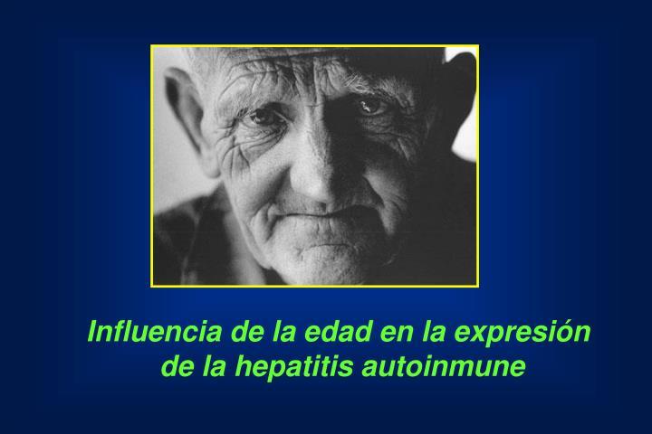 Influencia de la edad en la expresión