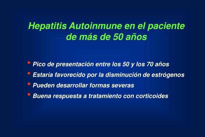 Hepatitis Autoinmune en el paciente