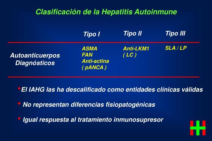 Clasificación de la Hepatitis Autoinmune