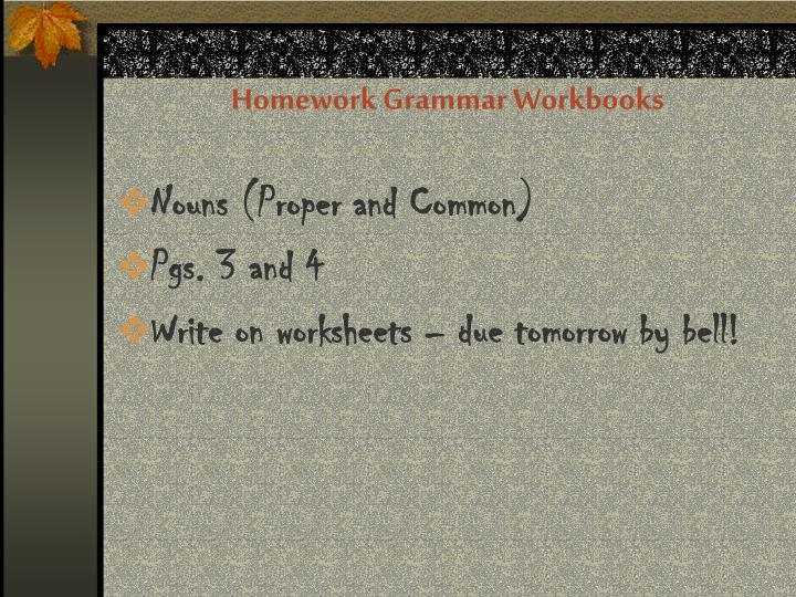 Homework Grammar Workbooks