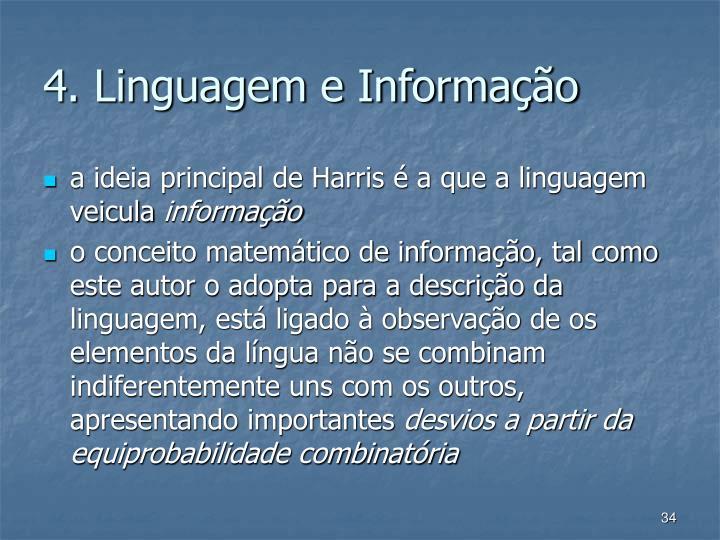 4. Linguagem e Informao
