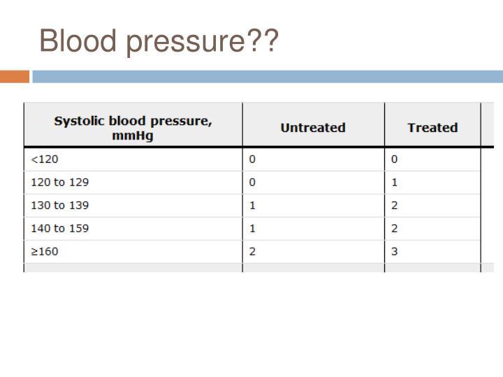 Blood pressure??
