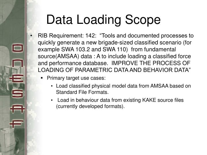 Data Loading Scope