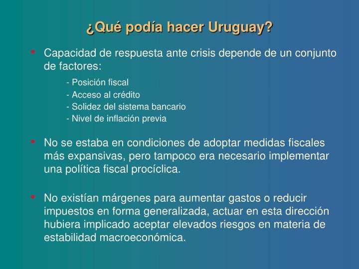 ¿Qué podía hacer Uruguay?
