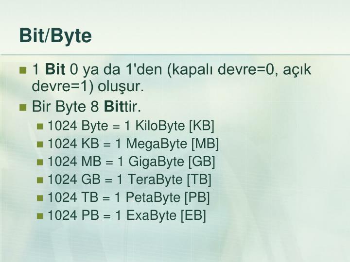 Bit/Byte