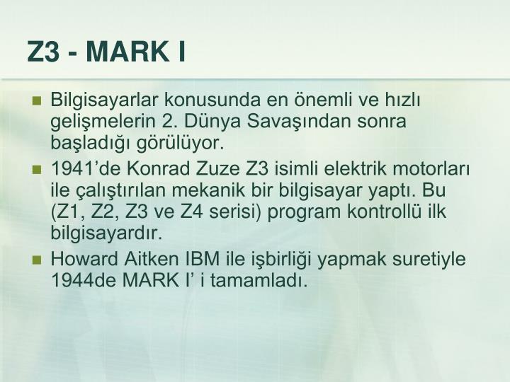 Z3 - MARK I