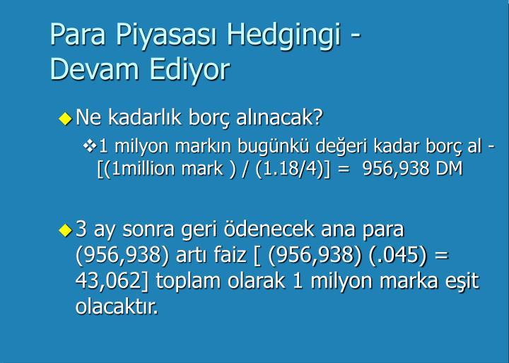 Para Piyasası Hedgingi -