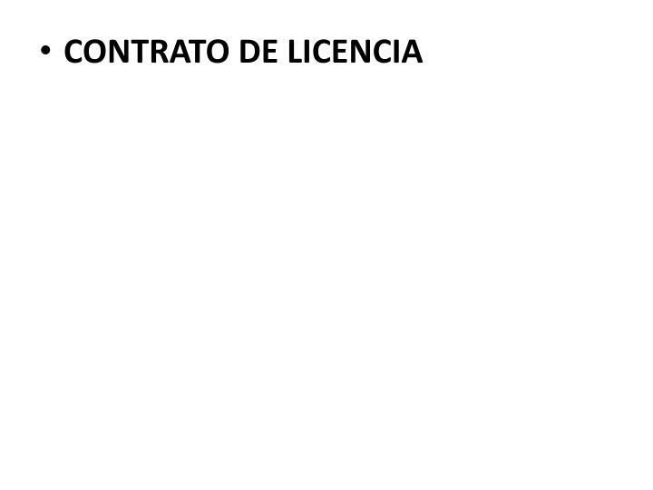 CONTRATO DE