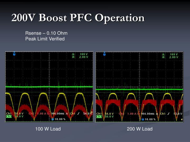 200V Boost PFC Operation