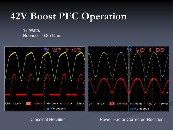 42V Boost PFC Operation