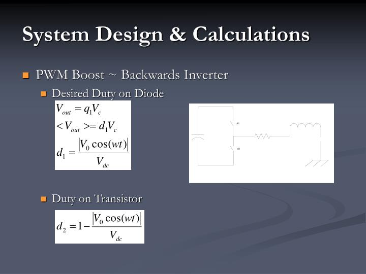 System Design & Calculations
