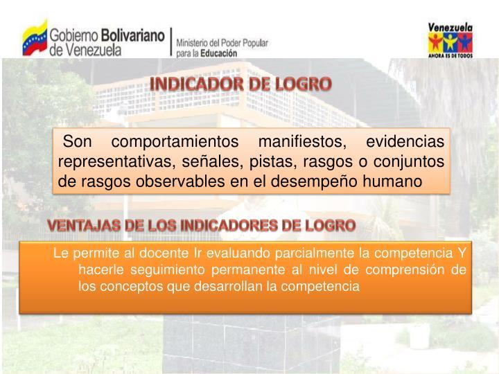 INDICADOR DE LOGRO