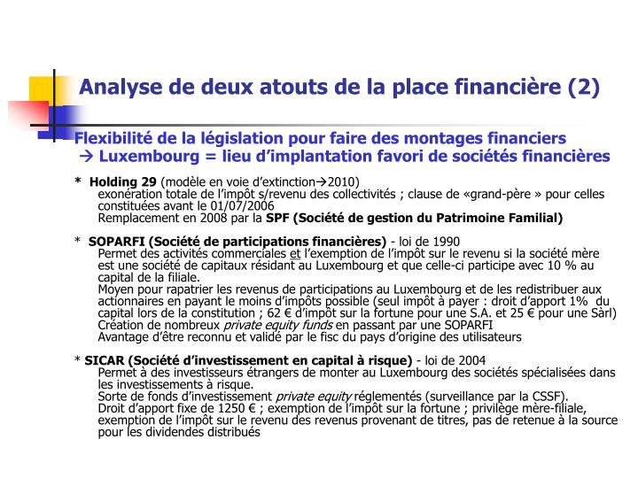 Analyse de deux atouts de la place financière (2)