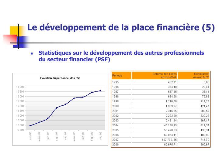 Le développement de la place financière (5)