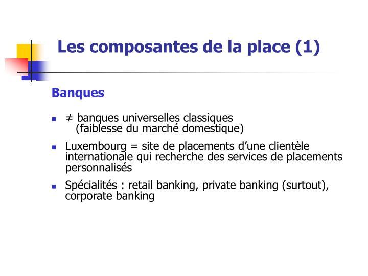 Les composantes de la place (1)