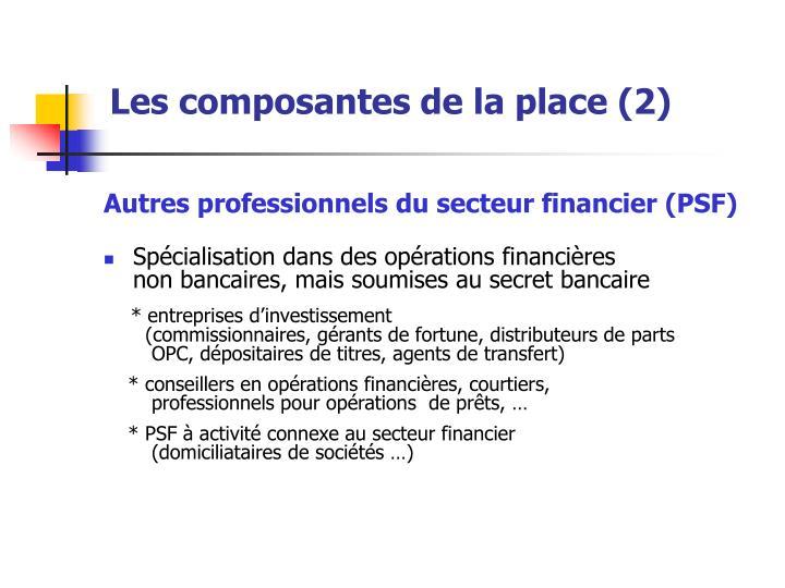 Les composantes de la place (2)