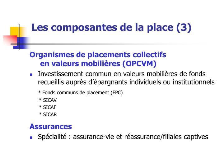Les composantes de la place (3)