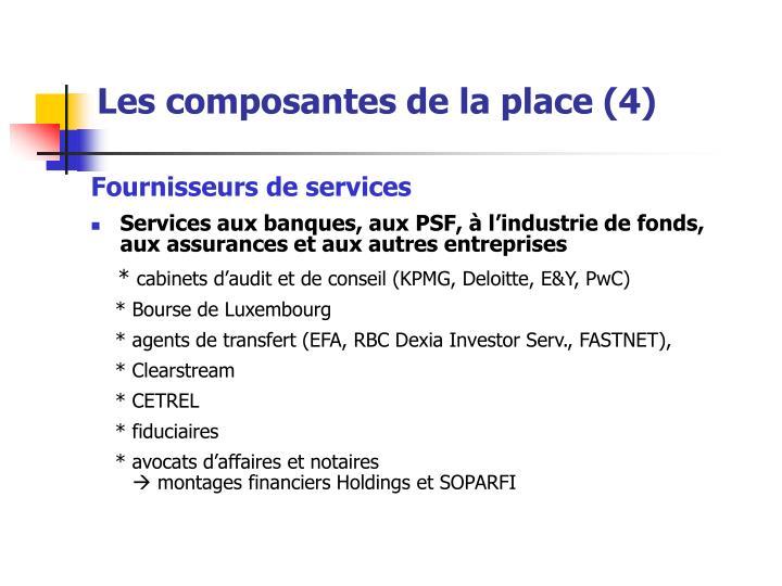 Les composantes de la place (4)