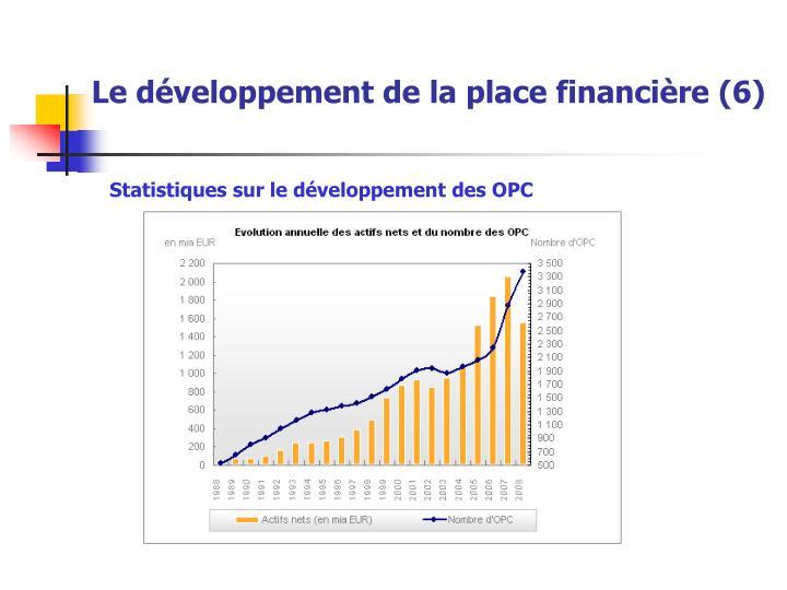 Le développement de la place financière (6)