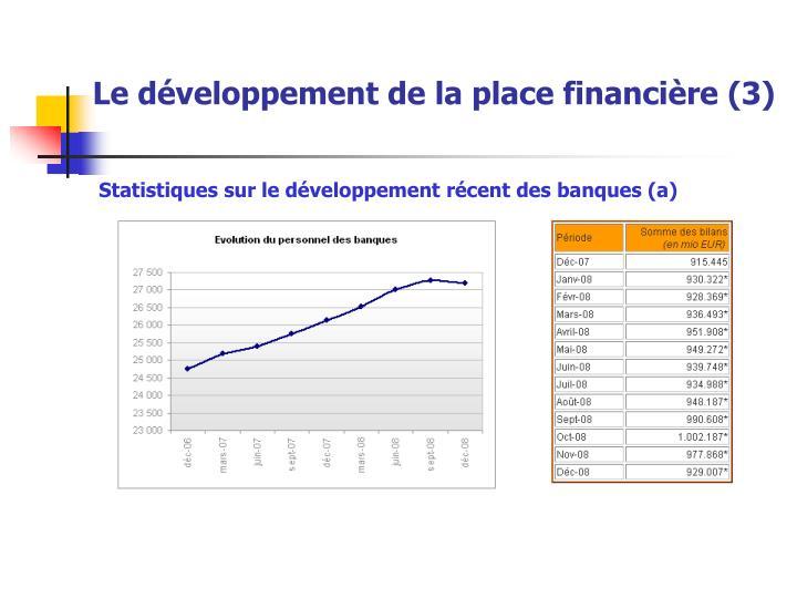 Le développement de la place financière (3)