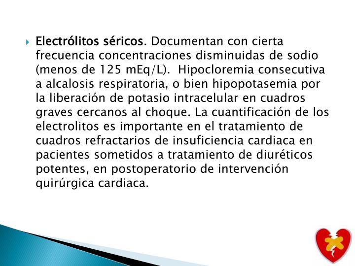 Electrólitos séricos