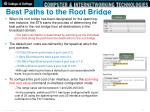best paths to the root bridge