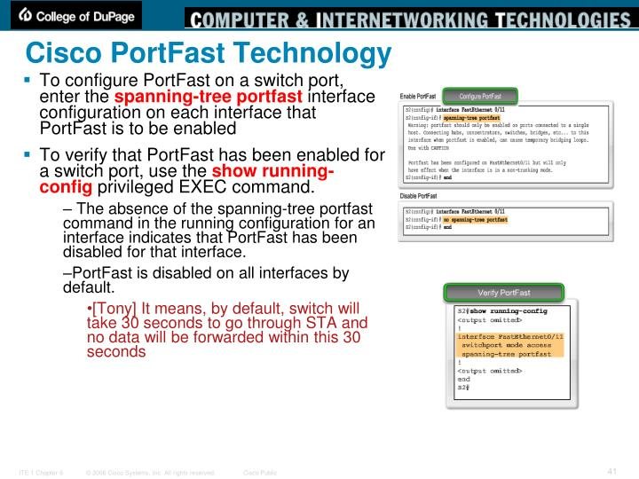 Cisco PortFast Technology