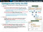 configure and verify the bid