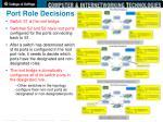 port role decisions